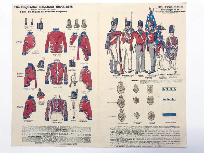 Planche 54 - Heer Und Tradition - Hans Bauer - Uniforme - Englische Infanterie - 1800 -1815 - Die Historische Uniformierung