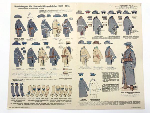 Planche 21 - Heer Und Tradition - Hans Bauer - Uniforme -Schutztruppe Deutsch Südwestafrika - 1889 -1815 - Die Historische Uniformierung