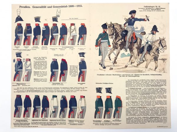 Planche 22 - Heer Und Tradition - Hans Bauer - Uniforme -Generalität und Generalstab - 1808 -1815 - Die Historische Uniformierung (Copie)