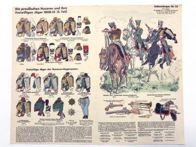 Planche 52 - Heer Und Tradition - Hans Bauer - Uniforme - Preußischen Husaren - 1808 -1815 - Die Historische Uniformierung