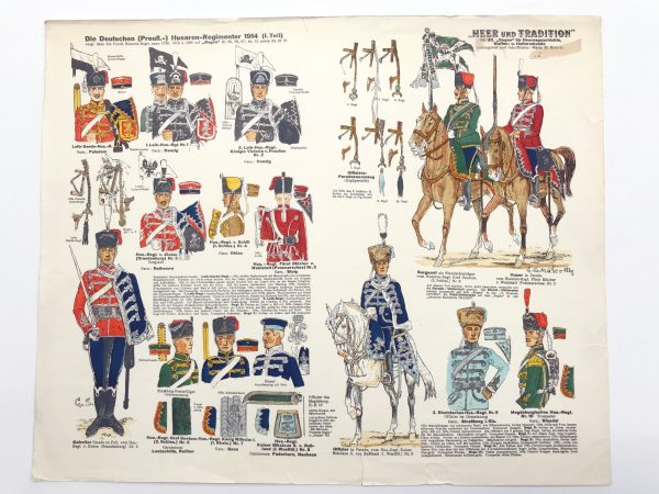 Planche 83 - Heer Und Tradition - Hans Bauer - Uniforme - Deutschen Husaren - 1914 - Die Historische Uniformierung