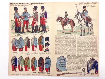Planche 89 - Heer Und Tradition - Hans Bauer - Uniforme - Napoleon III Husaren - 1852 - 1870 - Die Historische Uniformierung