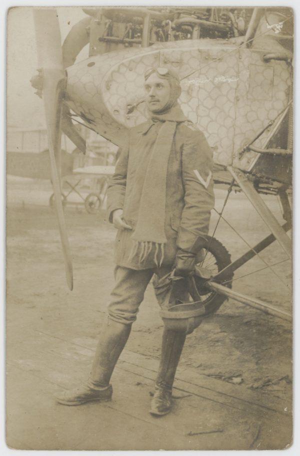 Carte Ancienne Photographie - Guerre 14/18 - Armée Allemande - Pilote - Guerre Aerienne - Alsacien