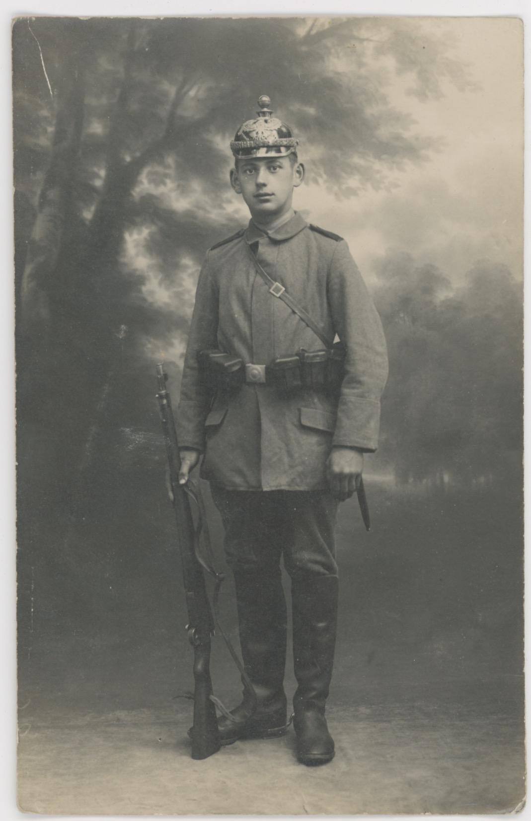 5 Cartes Anciennes Photographie - Guerre 14/18 - Armée Allemande - Artilleur - Alsacien - Conscription - Front Est