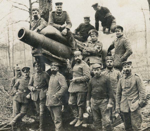 Carte Ancienne Photographie - Guerre 14/18 - Armée Allemande - Tranchée - Artillerie - Front - Alsacien - Canon