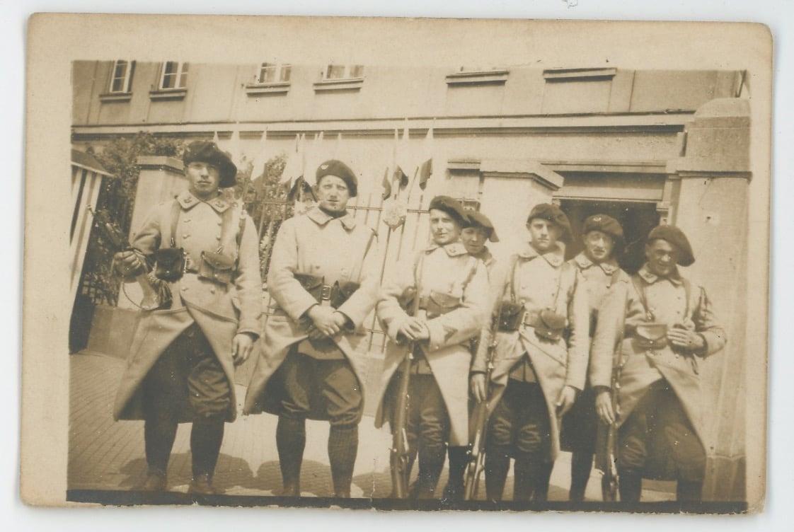 2 Cartes photos - Soldats Français - Chasseurs - photographie 1930 - Armement - Exercice - Béret - Mitrailleuse
