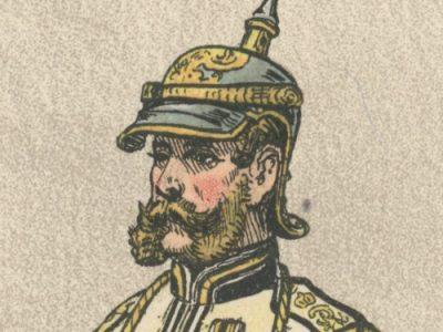 2 Planches Gravure - Illustration Richard Knötel - Cavalerie - Cuirassier Prussien - Kuirassier 1867 - Uniforme - Cuirassier