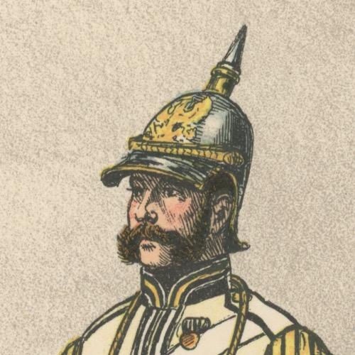 2 Planches Gravure - Illustration Richard Knötel - Cavalerie - Cuirassier Prussien - Kuirassier 1856 - Uniforme - Cuirassier