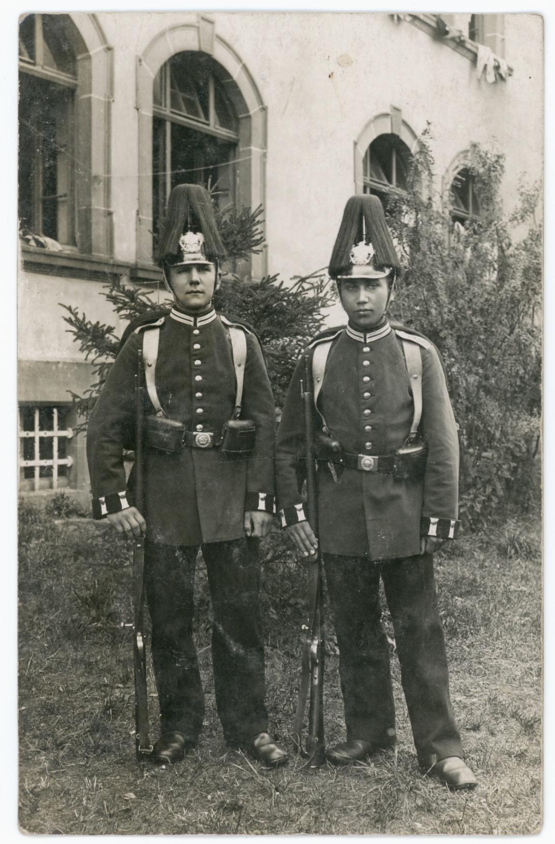 Carte Ancienne Photographie - Guerre 14/18 - Armée Allemande - Garde Impériale - Alsacien - Conscription - Prusse