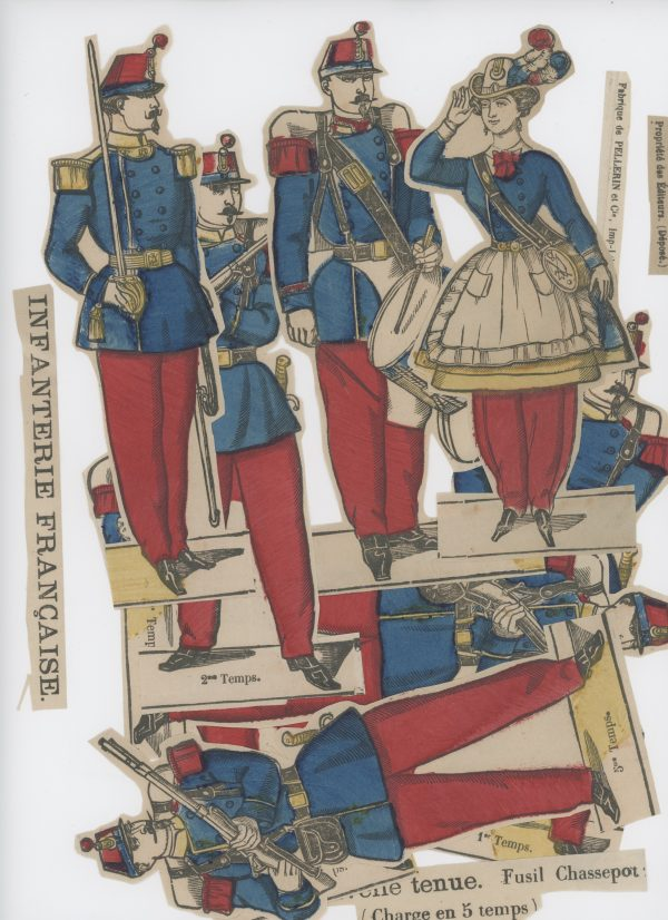 Planche imagerie Epinal - Pellerin Editeur - N°? - Infanterie Nouvel Uniforme - Second Empire - Armée Française
