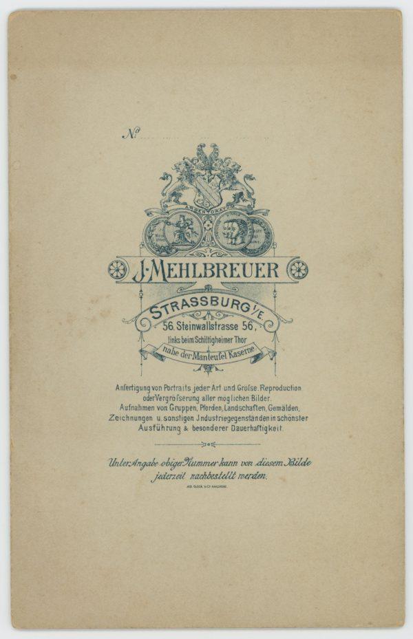 Ancienne Photographie - Grande CDV - Soldat Portrait - Service Militaire - Uniforme - Dragons - Prusse - Casque - Dienstzeit - Strasbourg