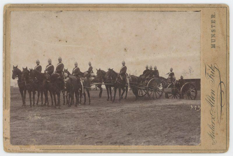 Ancienne Photographie - Grande CDV - Attelage Artillerie Prusse - 1880/1900 - Uniforme - Uniforme - Prusse
