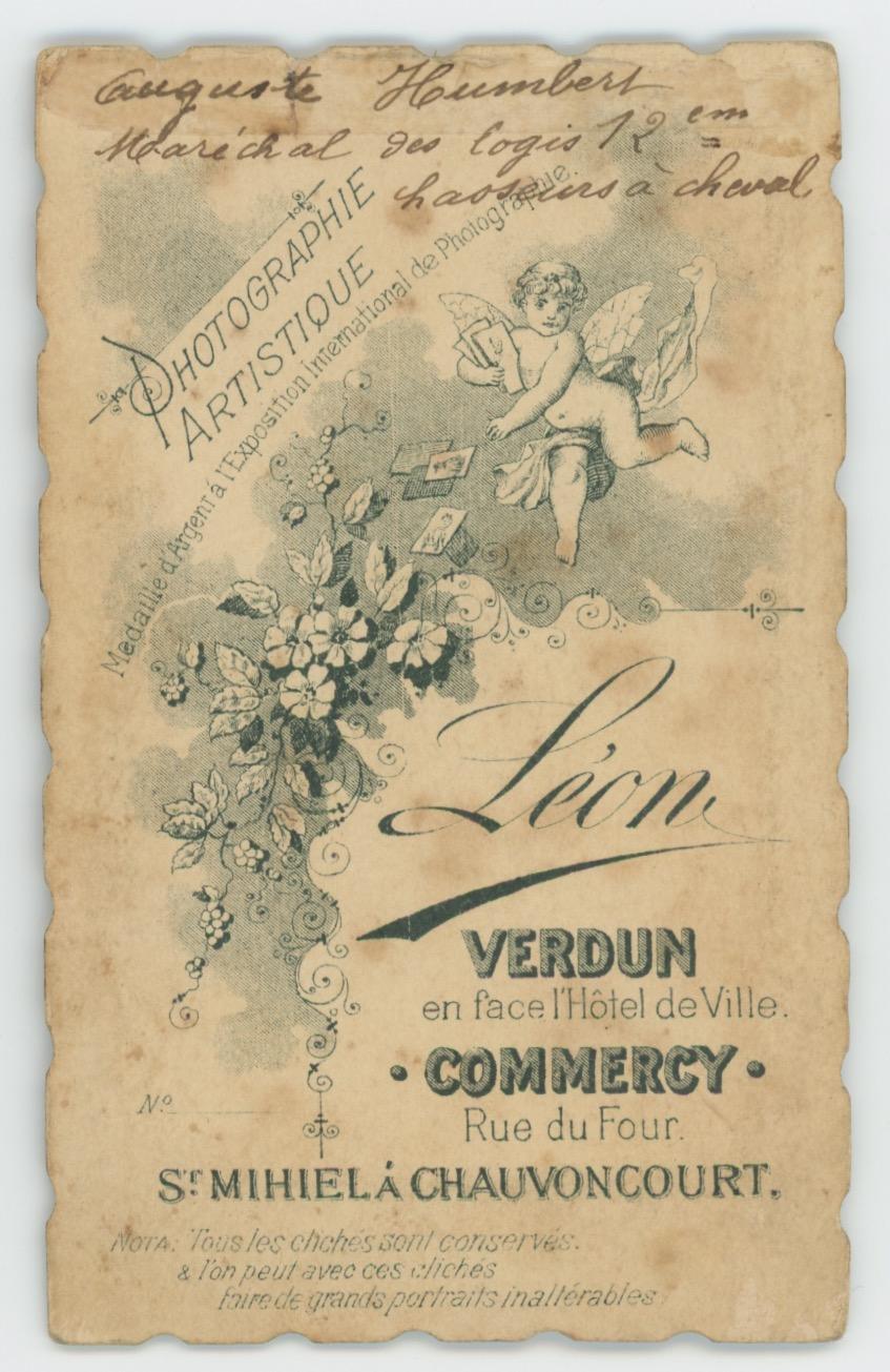 CDV Militaire - Ancienne Photographie - Chasseur à Cheval - Uniforme - 3éme République - 12 Régiment 1880 - Verdun