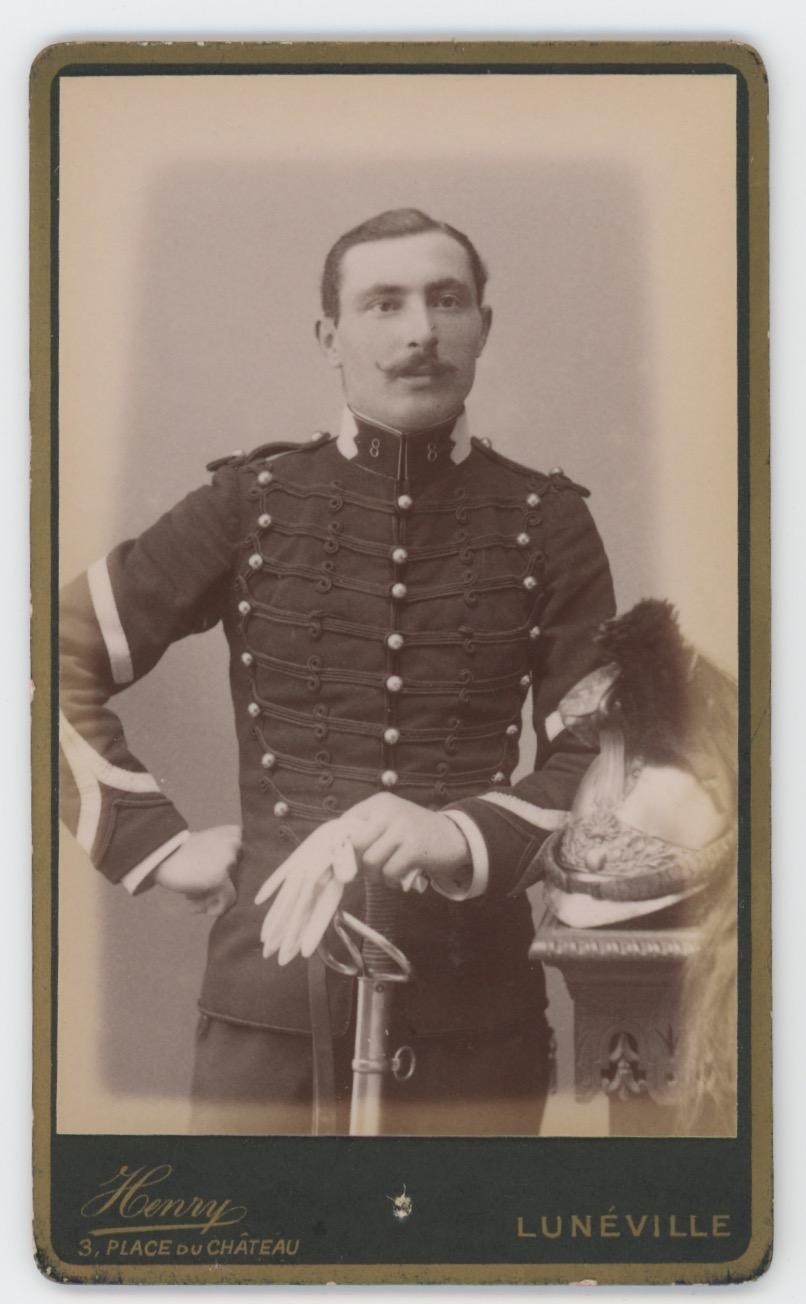 CDV Militaire - Ancienne Photographie - Dragons - Uniforme - 3éme République - 8 Rég de Dragons - 1880 - Luneville