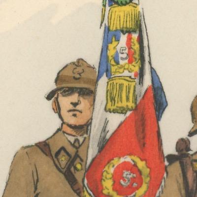 Carte Postale Illustrée - Maurice Toussaint - Edition Militaire Illustrées - Infanterie de ligne - 1940 - Porte Etendard