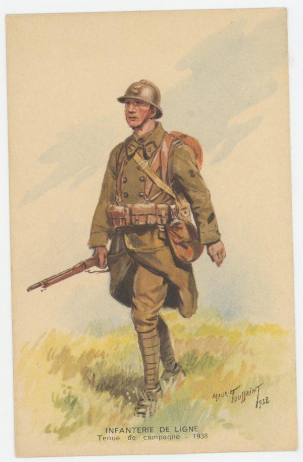 Carte Postale Illustrée - Maurice Toussaint - Edition Militaire Illustrées - Infanterie de ligne - 1940