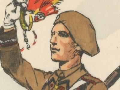 Carte Postale Illustrée - Maurice Toussaint - Edition Militaire Illustrées - Infanterie de ligne - 1940 - Région Fortifiée