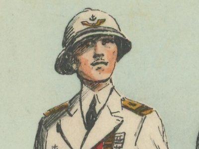 Carte Postale Illustrée - Maurice Toussaint - Edition Militaire Illustrées - Armée de l'air - 1940 - Base aérienne outremer