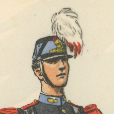 Carte Postale Illustrée - Maurice Toussaint - Edition Militaire Illustrées - Saint Cyr - Ecole Militaire - Infanterie - 1940