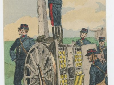 Carte Postale Illustrée - Maurice Toussaint - Edition Militaire Illustrées - Artillerie Montée - 1910