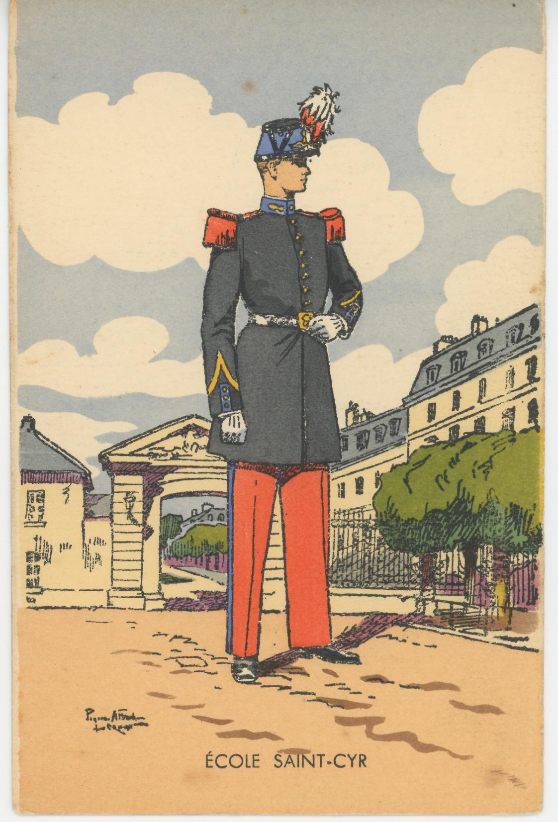 Carte Postale Illustrée - Pierre Albert Leroux- Edition Militaire Illustrées - Ecole de Saint Cyr - 1930