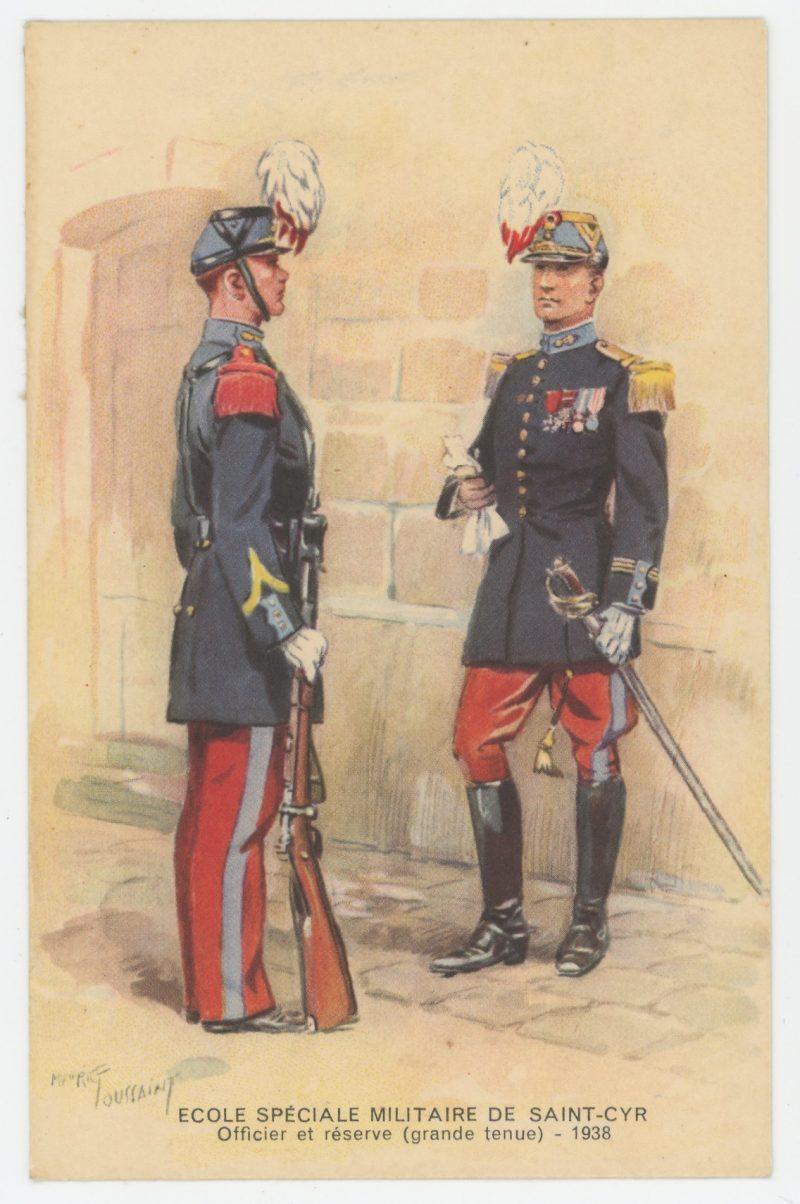 Carte Postale Illustrée - Maurice Toussaint - Edition Militaire Illustrées - Saint Cyr - Ecole Militaire - Officier - 1940