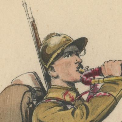 Carte Postale Illustrée - Edmond Lajoux - Edition Militaire Illustrées - Infanterie Coloniale - 1930