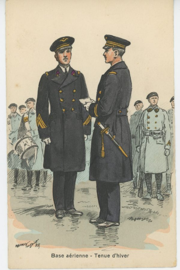 Carte Postale Illustrée - Maurice Toussaint - Edition Militaire Illustrées - Armée de l'air - 1940 - Base aérienne