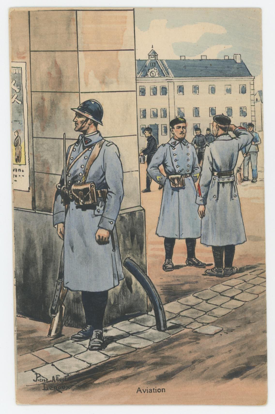 Carte Postale Illustrée - Pierre Albert Leroux- Edition Militaire Illustrées - Aviation - 1929 - Garde Caserne