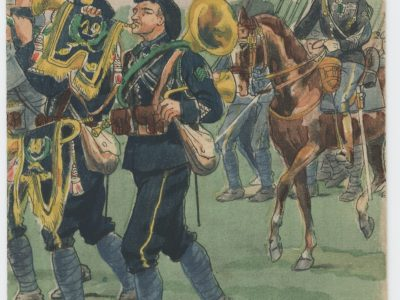 Carte Postale Illustrée - Pierre Albert Leroux- Edition Militaire Illustrées - Chasseur à Pied 1919