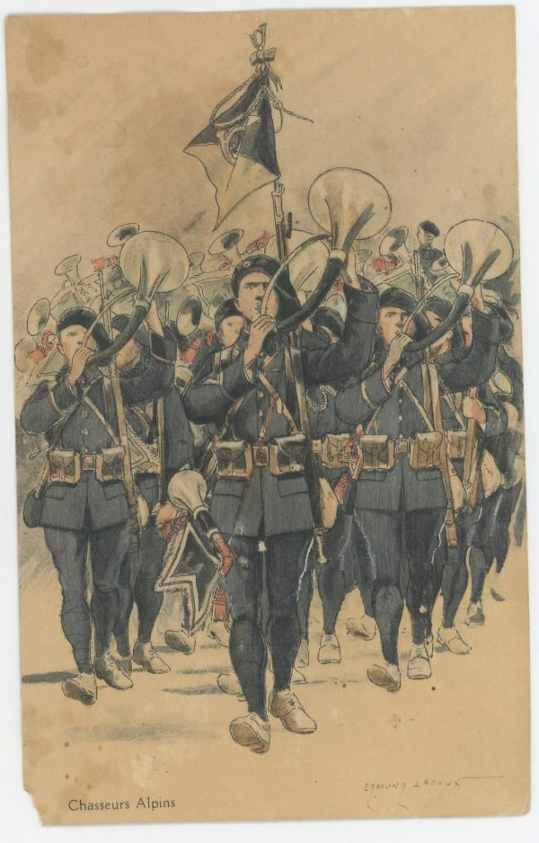 Carte Postale Illustrée - Edmond Lajoux - Edition Militaire Illustrées - Chasseurs Alpins - 1930