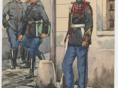 Carte Postale Illustrée - Pierre Albert Leroux- Edition Militaire Illustrées -Garde Républicaine à Pied - 1929