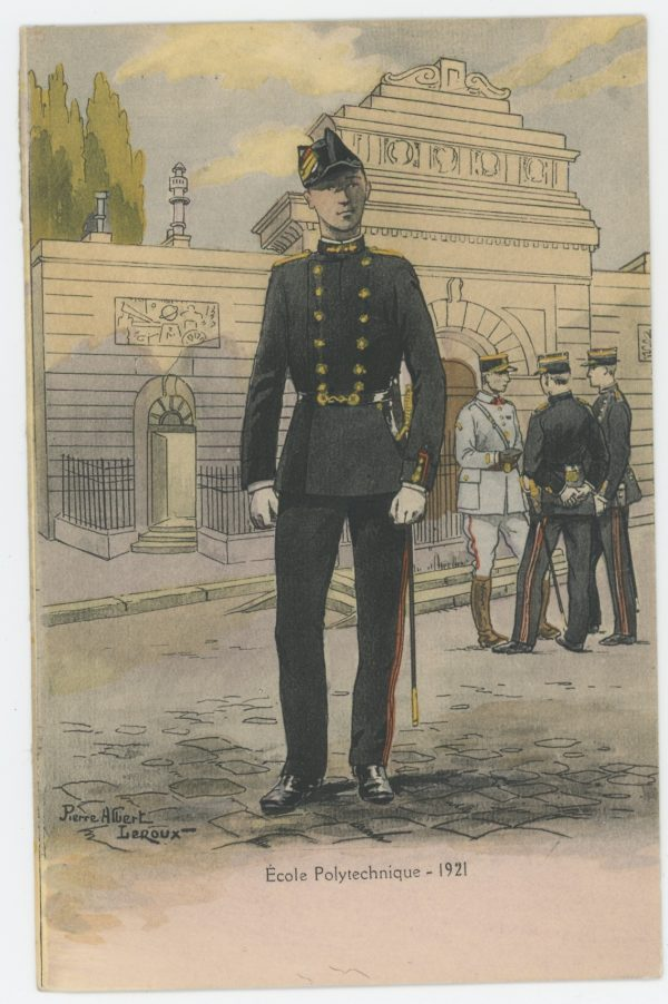 Carte Postale Illustrée - Pierre Albert Leroux- Edition Militaire Illustrées - Ecole Polytechnique 1921