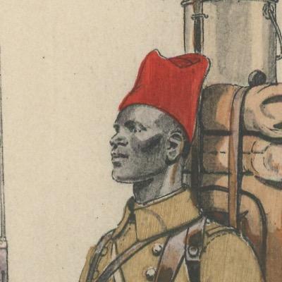 Carte Postale Illustrée - Edmond Lajoux - Edition Militaire Illustrées - Tirailleurs Sénégalais - 1930
