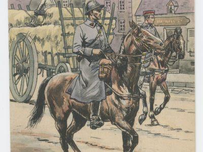 Carte Postale Illustrée - Pierre Albert Leroux- Edition Militaire Illustrées - Train des Equipages - 1929