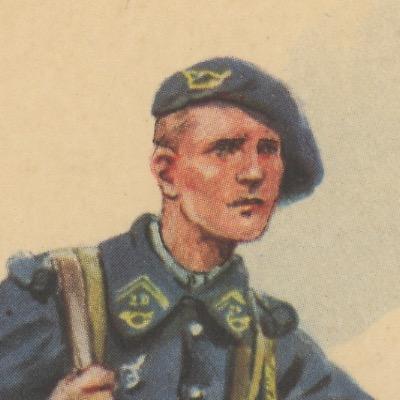 Carte Postale Illustrée - Maurice Toussaint - Edition Militaire Illustrées - Chasseur à Pied - 1940