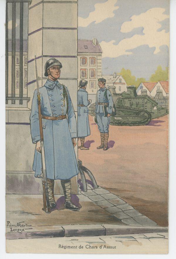 Carte Postale Illustrée - Pierre Albert Leroux- Edition Militaire Illustrées - Régiment des Chars d'Assaut - 1930