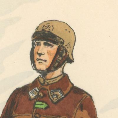 Carte Postale Illustrée - Maurice Toussaint - Edition Militaire Illustrées - Char de combat - 1940
