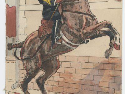 Carte Postale Illustrée - P.V Robiquet - Edition Militaire Illustrées - Ecole de Saumur - 1930