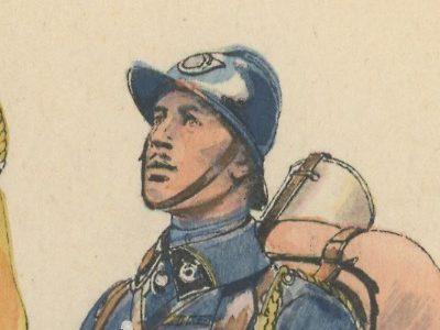 Carte Postale Illustrée - Edmond Lajoux - Edition Militaire Illustrées - Chasseurs à Pied - 1930