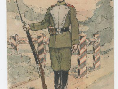 Carte Postale Illustrée - P.V. Robiquet - Edition Militaire Illustrées - Russie - Infanterie 1914