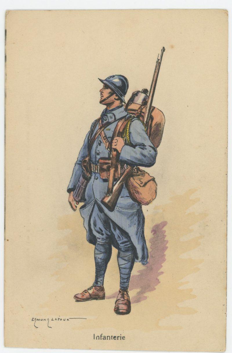 Carte Postale Illustrée - Edmond Lajoux - Edition Militaire Illustrées - Infanterie - 1930
