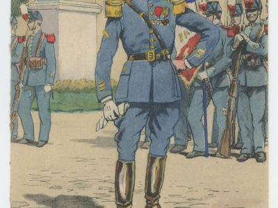 Carte Postale Illustrée - Pierre Albert Leroux- Edition Militaire Illustrées - Ecole de Saint Cyr - 1921
