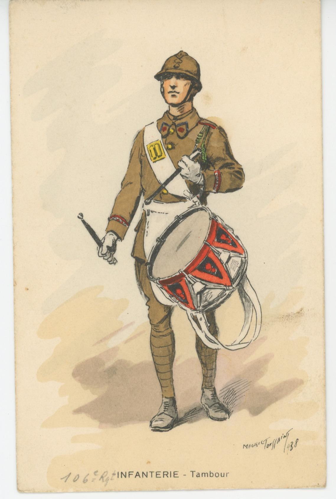 Carte Postale Illustrée - Maurice Toussaint - Edition Militaire Illustrées - Infanterie de ligne - 1940 - Tambour