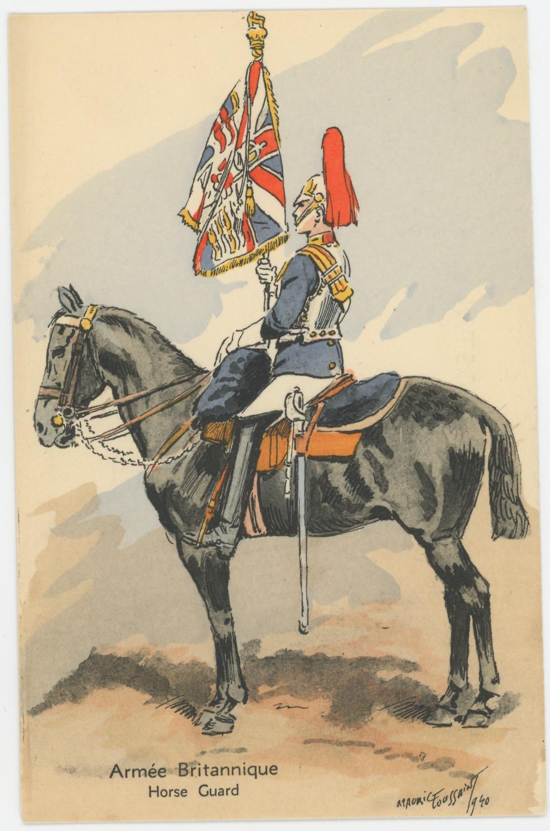 Armée Anglaise Horse Guards - 1939 - Maurice Toussaint - Uniforme