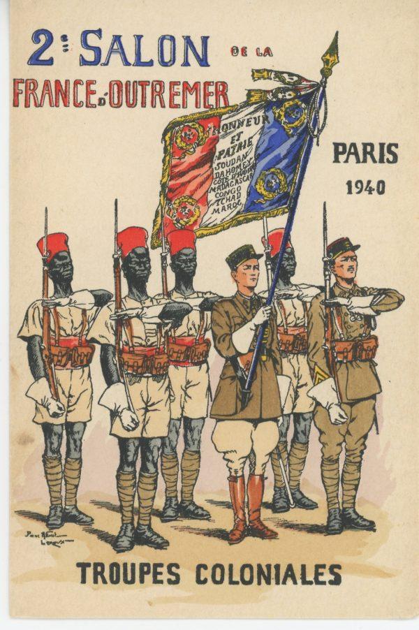 Carte Postale Illustrée - Pierre Albert Leroux - Edition Militaire Illustrées - Troupes Coloniales - 1940