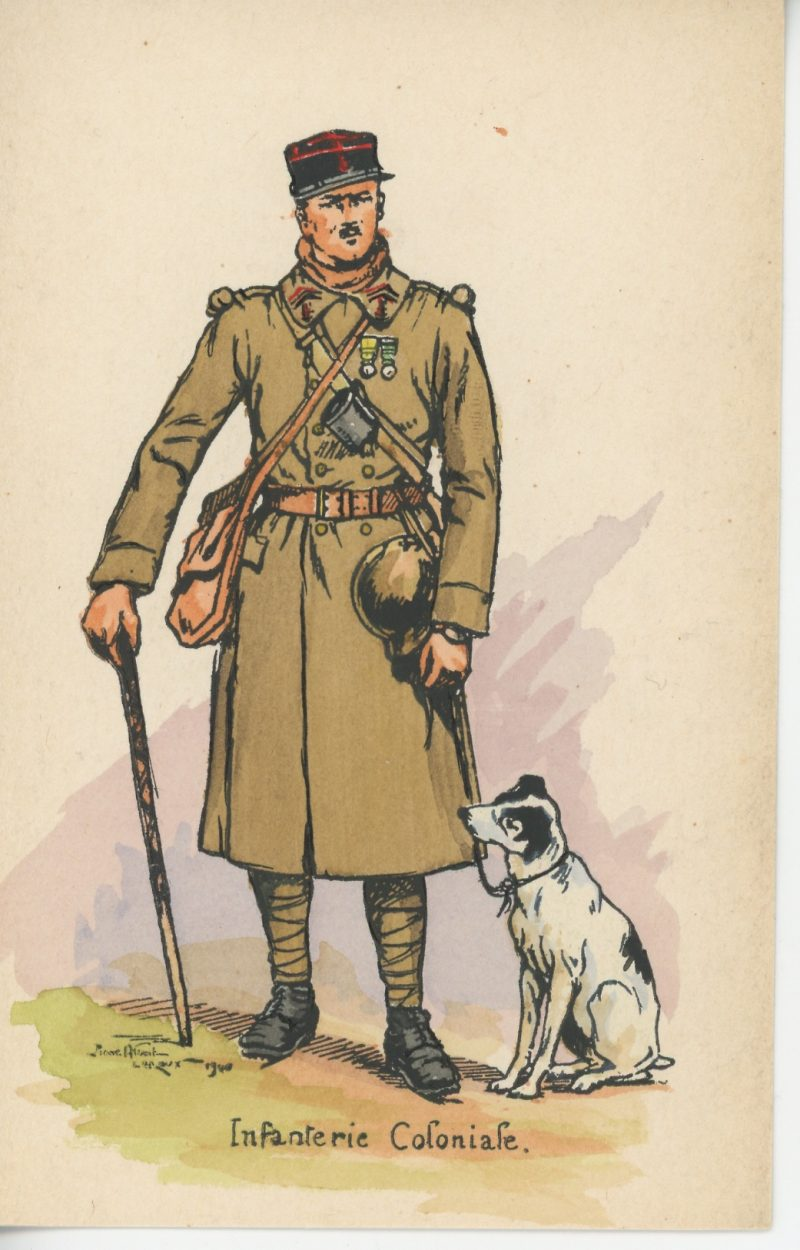 Carte Postale Illustrée - Pierre Albert Leroux - Edition Militaire Illustrées - Infanterie Coloniale - 1940