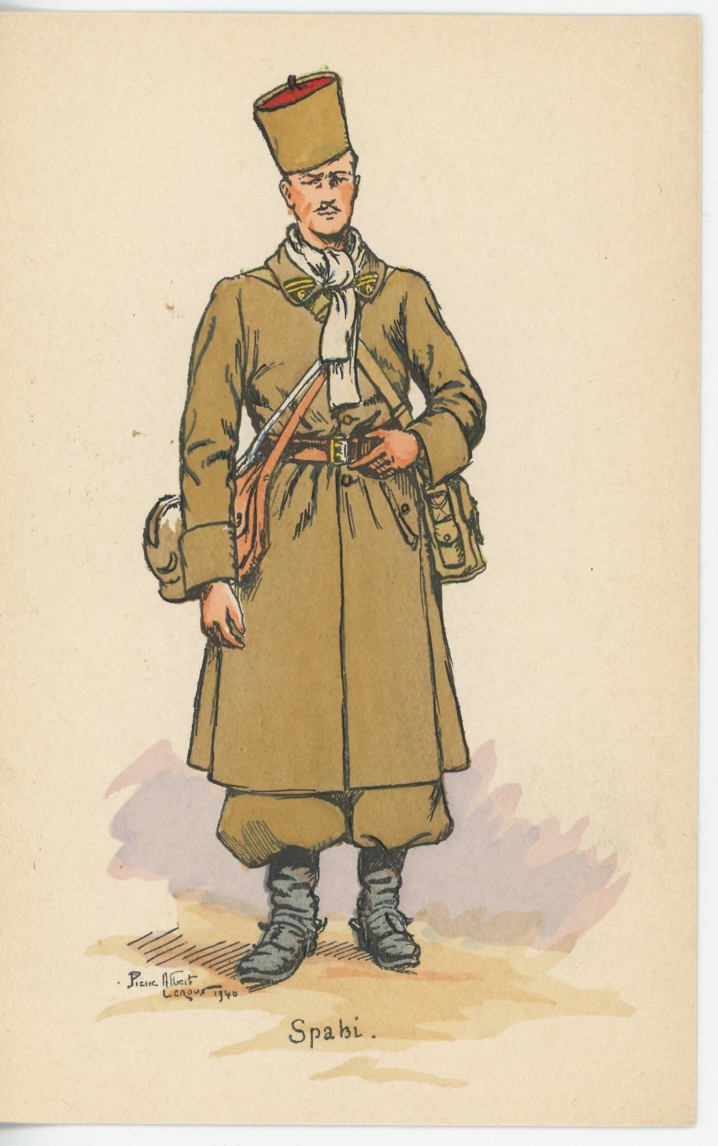 Carte Postale Illustrée - Pierre Albert Leroux - Edition Militaire Illustrées - Spahi - 1940