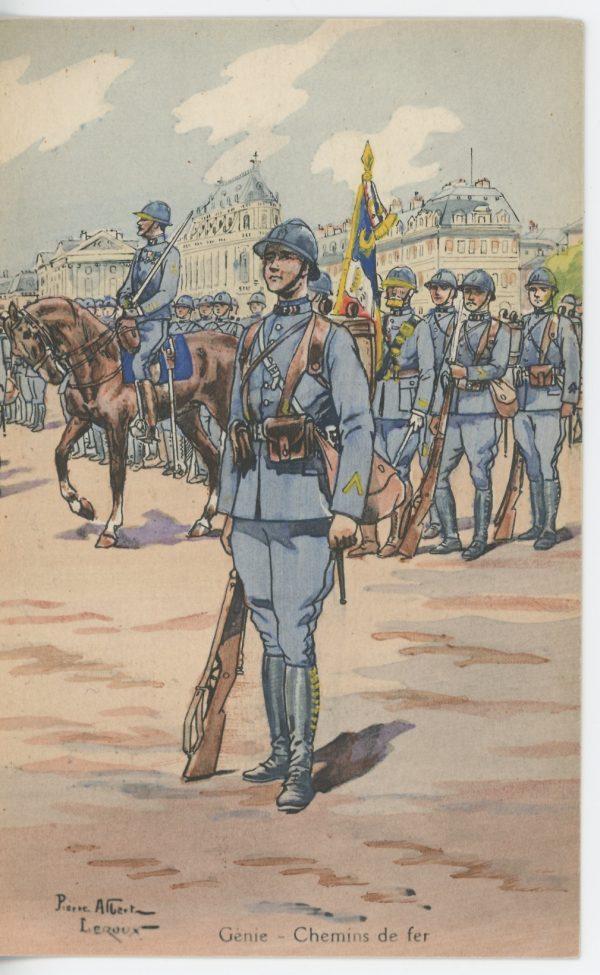 Carte Postale Illustrée - Pierre Albert Leroux - Edition Militaire Illustrées -Génie - Chemin de fer - 1930