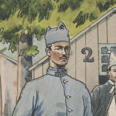 Carte Postale Illustrée - Pierre Albert Leroux - Edition Militaire Illustrées -Infirmier - 1930